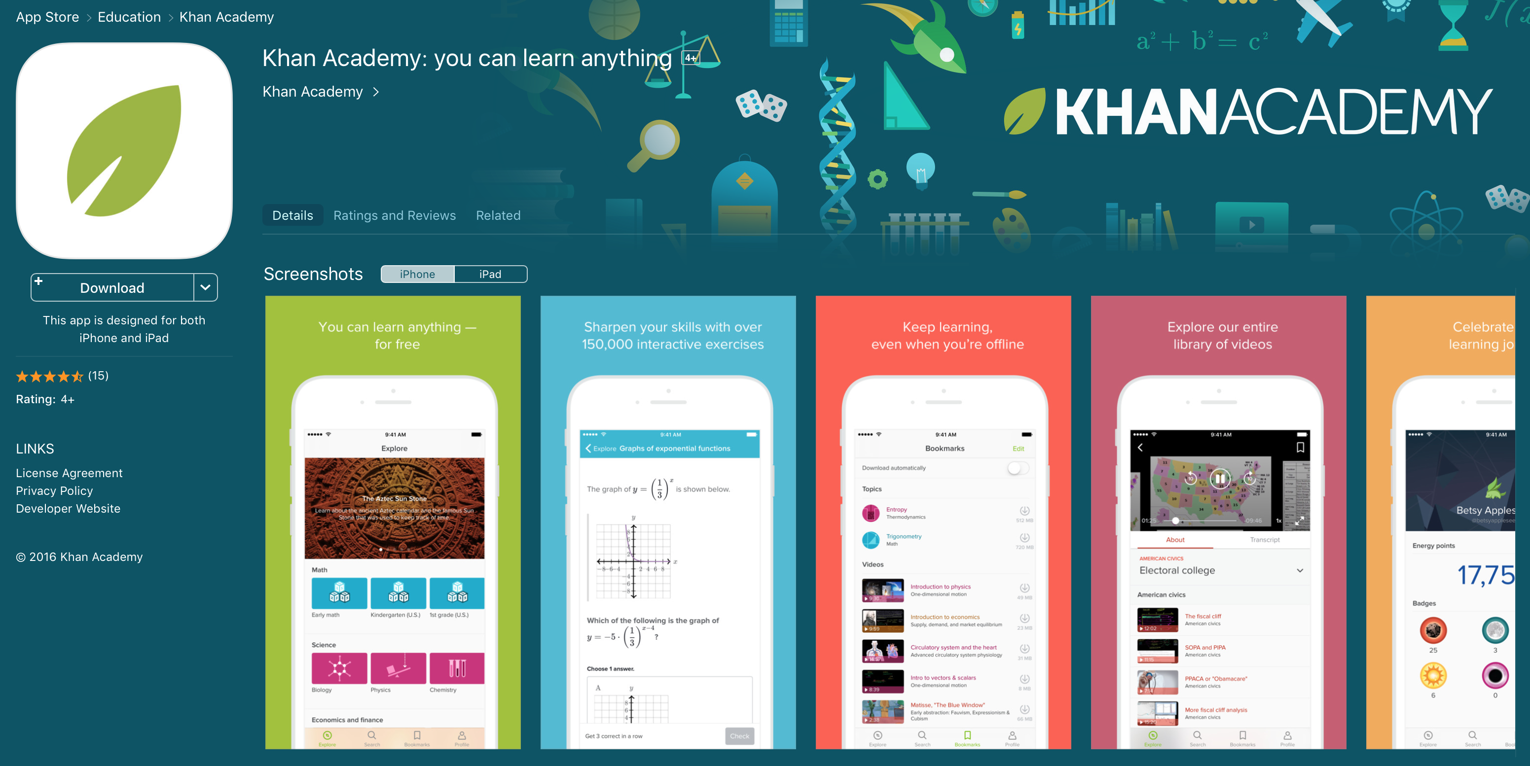 Khan Academy in the App Store