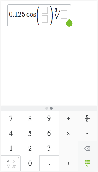 changes to the math keypad