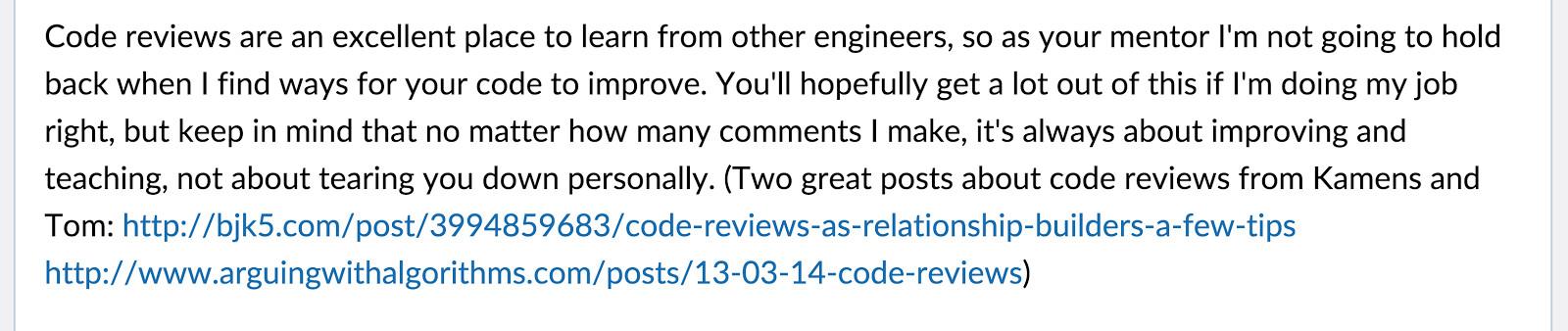 receiving feedback   intern  khan academy khan academy engineering