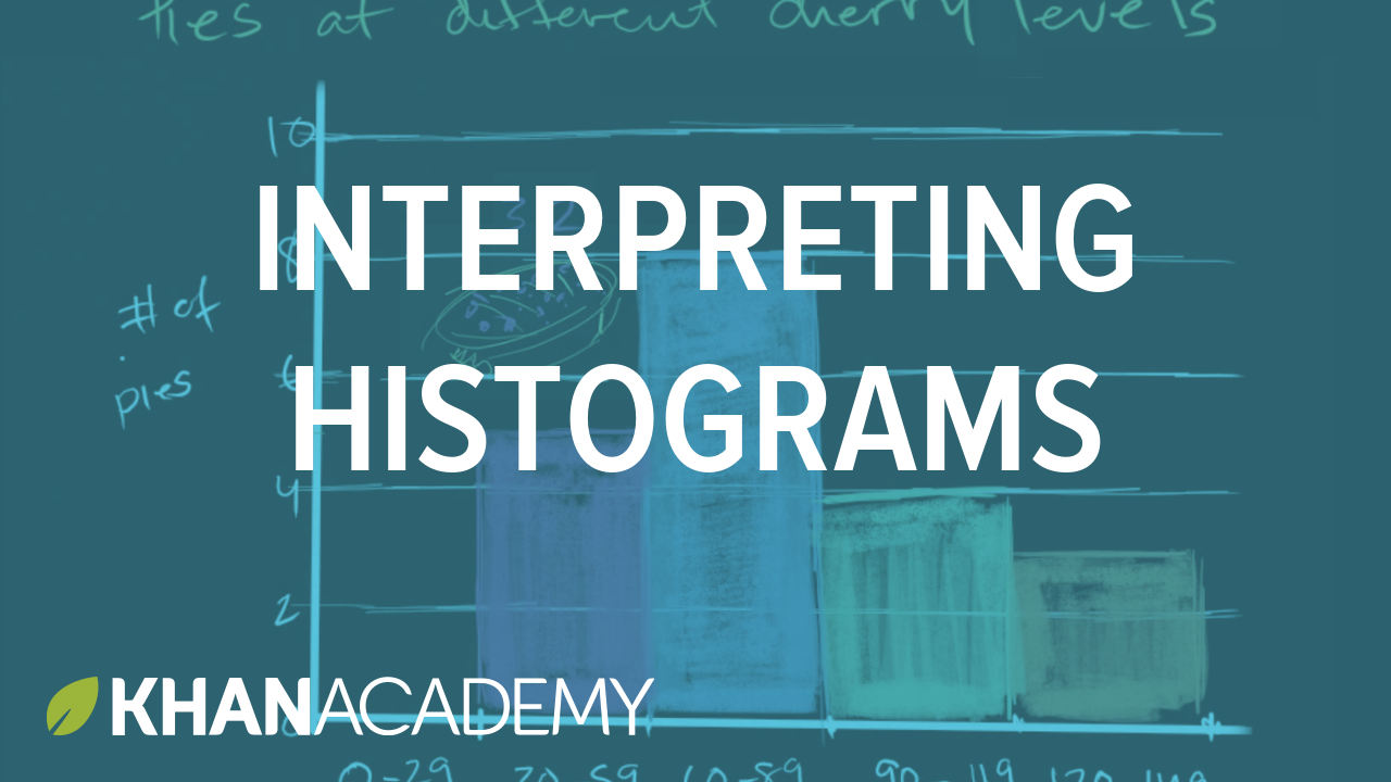 Sample thumbnail for the math video on interpreting histograms